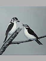 IARTS® Oil Painting Love Bird on A Branch Wall Art Acrylic Canvas Wall Art For Home Decoration