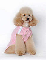 Dog Rain Coat Dog Clothes Casual/Daily Solid Green Blushing Pink