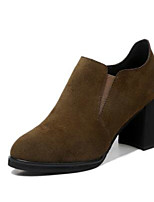 Women's Boots Comfort Real Leather Suede Spring Casual Comfort Camel Black Flat