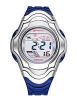 Kid's Sport Watch Fashion Watch Digital Water Resistant / Water Proof Noctilucent Rubber Band Black Blue Red Orange Green