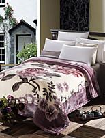 Velocino de Coral Estampado Floral / Botânico cobertores