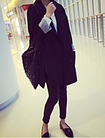 Women's Work Simple Spring Blazer,Solid Shawl Lapel Long Sleeve Long Others
