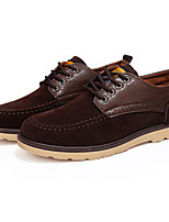 Men's Oxfords Comfort Nubuck leather Spring Fall Casual Black Yellow Brown Blue Flat