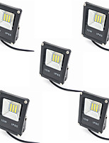 5pcs 10W IP65 Outdoor LED Flood Lights Halogen Bulb Equivalent Waterproof 800lm Security Lights Floodlight DC12-24V