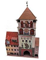 Пазлы Набор для творчества 3D пазлы Строительные блоки Игрушки своими руками Знаменитое здание Лошадь