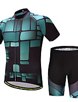CYCEARTH Cycling Jersey Shorts Pants Short Sleeve Set Men's Bike Clothing Suits Clothes Summer Breathable Quick Dry CES1010