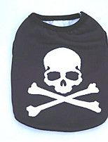 Dog Coat Dog Clothes Casual/Daily Cosplay Skulls Black