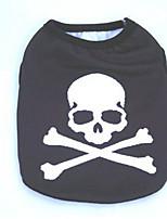 Chien Manteaux Vêtements pour Chien Cosplay Décontracté / Quotidien Crânes Noir