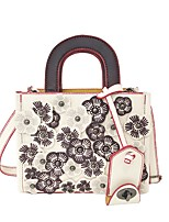 Women Bags All Seasons PU Shoulder Bag with for Casual Beige