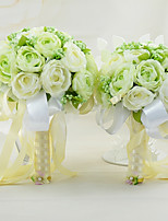 YuXiYing Hemispherical Dew Lotus Wedding Bride Bouquet  A Large And Small Set