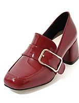 Women's Shoes Heels Comfort Leatherette Spring Fall Casual Party & Evening Dress Comfort Buckle Chunky Heel Blushing Pink Ruby Black 2in-2 3/4in