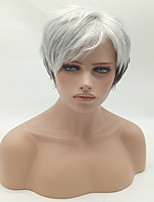 Fashion Straight Black To White Color Synthetic Wigs Cosplay Wigs