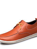 Men's Sneakers Comfort Summer Fall Cowhide Pigskin Walking Shoes Casual Split Joint Flat Heel Black Dark Blue Brown Flat