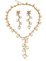 Women's Jewelry Set Pearl Necklace Bridal Jewelry Sets Imitation Pearl Rhinestone Euramerican Fashion ClassicImitation Pearl Rhinestone