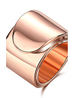 Women's Ring Simple  Elegant Titanium Steel Platinum Plated Rose Gold Plated Ring Jewelry For Wedding Anniversary Party/Evening