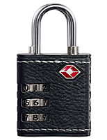 Design Go Password Padlock Zinc Alloy ABS Plastic 3 Digit Password TSA Lock Travel Accessories Synthetic Leather Security Anti-Theft Customs Lock Dai