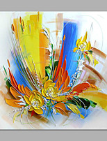 IARTS® Hand Painted Oil Painting Modern White Forlal Painting Art Acrylic Canvas Wall Art For Home Decoration