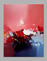 IARTS® Hand Painted Modern Abstract Blue Red & Pink Mix Color Oil Painting On Canvas with Stretched Frame Wall Art For Home Decoration Ready To Hang
