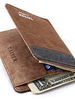 Men Money Clip Canvas All Seasons Daily Casual Square Without Zipper Coffee Aquamarine Gray