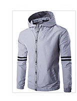 Men's Casual/Daily Simple Sweatshirt Solid Stand Inelastic Others Long Sleeve Fall