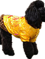 Dog Sweatshirt Dog Clothes Casual/Daily Letter & Number Blue Ruby Yellow