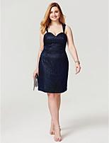 Eng anliegend Knie-Länge Spitze Cocktailparty Abschlussball Kleid mit Spitze durch TS Couture®