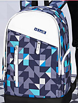 Unisex Shoulder Bag Oxford Cloth All Seasons Casual Outdoor Round Zipper Blue