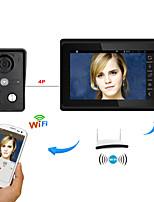 7inch sans fil / wifi wifi ip porte vidéo téléphone sonnette interphone système avec support remote app unlockingrecordingsnapshot