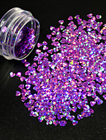 1g/Bottle Nail Art Romantic Heart Shape Starry Glitter Sequins Shining Purple Design Paillette Lovely 3D Decoration For Manicure DIY Beauty 1510W