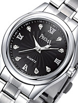 Men's Fashion Watch Quartz Alloy Band Silver