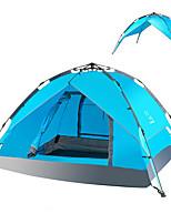 LINGNIU® 3-4 personnes Tente Tente de Plage Double Tente de camping Tente automatique Garder au chaud Résistant à la poussière >3000mm