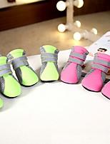 Cachorro Sapatos e Botas Fantasias Casual Mantenha Quente Esportes Sólido Verde Rosa claro