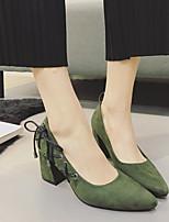 Women's Heels Slingback PU Spring Casual Slingback Green Black 2in-2 3/4in
