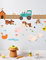 Wall Stickers Wall Decas Style Cartoon Dairy Farm PVC Wall Stickers