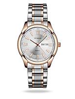 Men's Dress Watch Fashion Watch Quartz Calendar Water Resistant / Water Proof Noctilucent Alloy Band Silver Gold