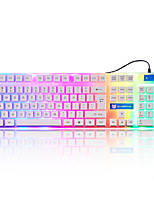 Sunsonny s-k5 19 teclas painel metálico usb teclado de jogo com fio com cabo de 160cm