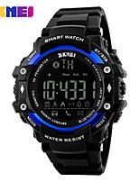 Homens Relógio Esportivo Relógio Inteligente Relogio digital Digital PU Banda Preta