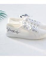 Для женщин Кеды Удобная обувь Полотно Весна Лето Повседневные Бежевый Серый Розовый На плоской подошве