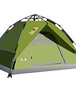 3-4 personnes Tente Double Tente automatique Une pièce Tente de camping 2000-3000 mm Térylène Fibre de verreEtanche Résistant à la