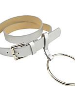 Ladies Fashion Casual Simple Buckle Buckle Metal Large Circle Decorative Belt