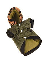 Dog Coat Dog Clothes Casual/Daily Sports Solid Jade