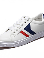 Men's Sneakers Comfort Spring Summer PU Casual Low Heel White Black Blue Under 1in