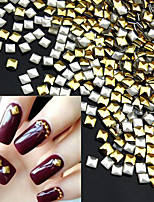 Square Gold DIY 3D Metal Nail Art Decorations 1000pcs/lot Rhinestone Metallic Nail AccessoriesGold Nail StudsManicure Tools