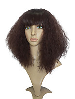 Capless Wine Wig Afro Kinky Curly Wig Fashion Wig