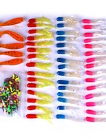101pcs Jig Head Soft Bait Lure Packs