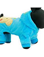 Hund Kapuzenshirts Hundekleidung Lässig/Alltäglich Kartoon Fuchsia Blau
