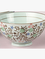 Japanese Korean Style Hand-painted Ceramic Home Dining Bowl