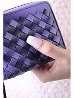 Women Money Clip PU All Seasons Casual Square Toggle Clasp Fuchsia Purple Black