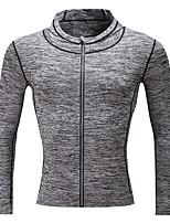 Men's Long Sleeve Running Sweatshirt Tops Running Autumn Winter Sports Wear Running/Jogging Tight