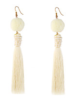Women's Drop Earrings Jewelry Circular Tassel Natural Geometric Personalized Cute Style Handmade DIY Statement Jewelry Classic